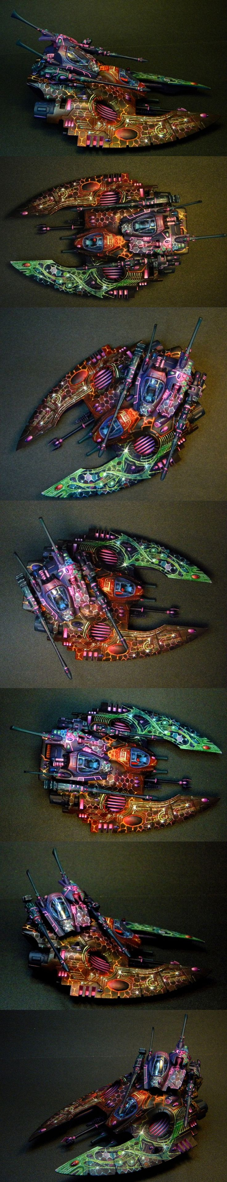 40k - Eldar Falcon - On the topic of ridonculous free hands.