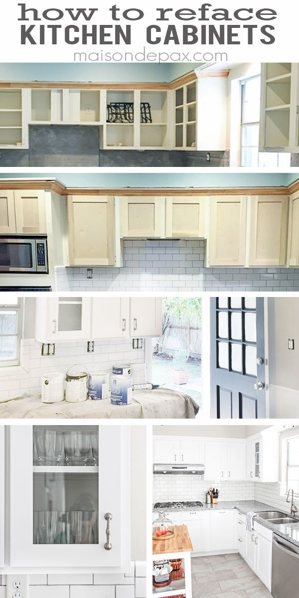 Awesome budget idea - how to reface kitchen cabinets | http://maisondepax.com