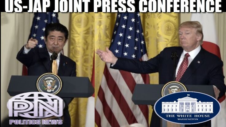 Donald Tramp Gives Joint Press Conference With Shinzo Abe