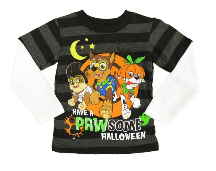 Paw Patrol Infant & Toddler Boys Black Glow In The Dark Pawsome Halloween Shirt Size 18 Months #PawPatrol