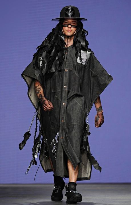 Gap-year styling: tribal style at the MAN show. Photograph: Stuart C Wilson/Getty Images
