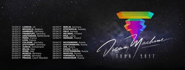 """Sie sind einer der erfolgreichsten Pop-Exporte Deutschlands und dennoch hört man immer wieder diese eine Frage – """"Tokio Hotel – die gibt's noch?"""". Klare Antwort: Ja, und wie! Das letzte Tokio Hotel Album Kings Of Suburbia erschien im Oktober 2014. Mit diesem tourte die Band noch bis Ende 2015 weltweit unter dem Motto Feel it All. Jetzt kündigt sich eine neue Tour an, die Dream Machine Tour 2017."""