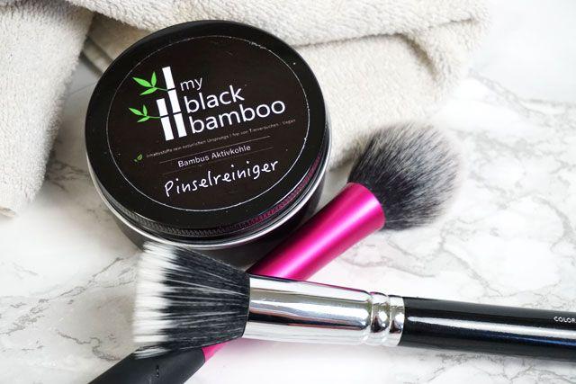 my black bamboo Aktivkohle Pinselreiniger
