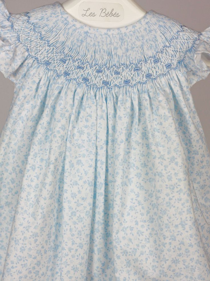 Liberty Floral Smocked Baby Dress