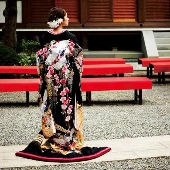 和装 Japanese Kimono wedding.