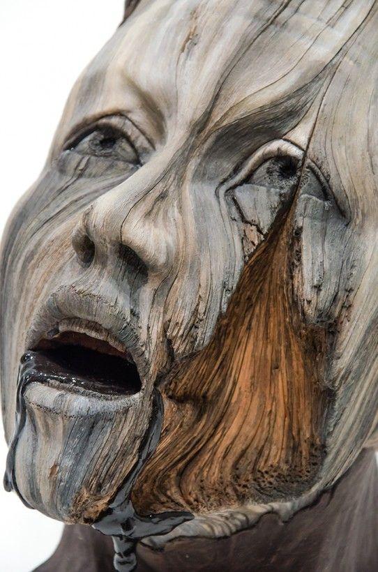 Des arbres humains en céramique - La boite verte
