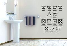 Wandtattoo Wäschezeichen