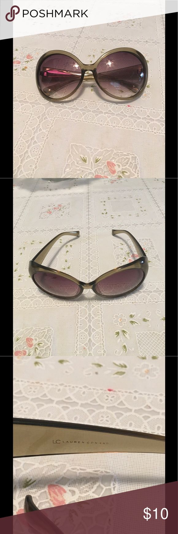 🕶 sunglasses by Lauren Conrad They are in great shape meaning...the bands aren't loose or widened.  There are minor scratches on the lens. LC Lauren Conrad Accessories Sunglasses