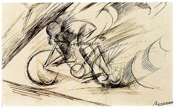 Boccioni, Ciclista