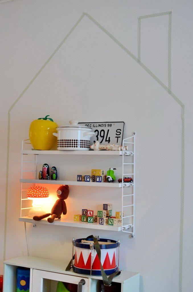 Ett hus i huset av washitejp - DIY - HemmaTrivsel