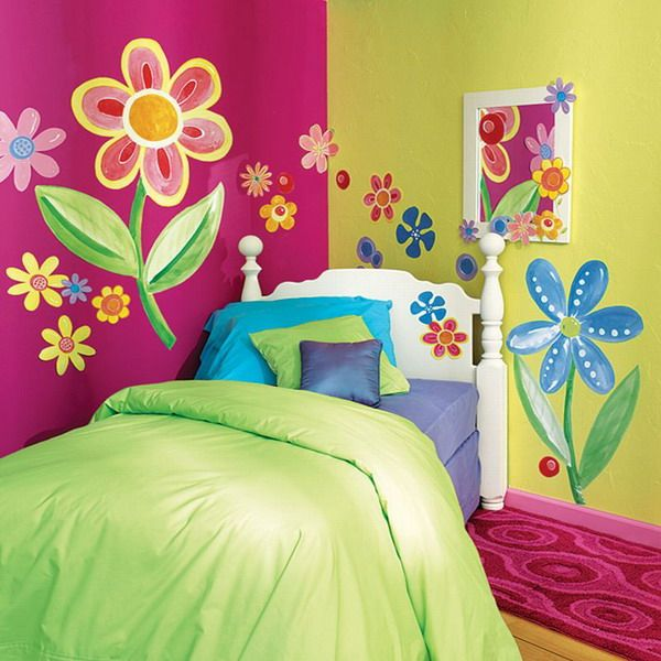 Love The Bright Colors And Painted Flowers Instead Of Stick On S
