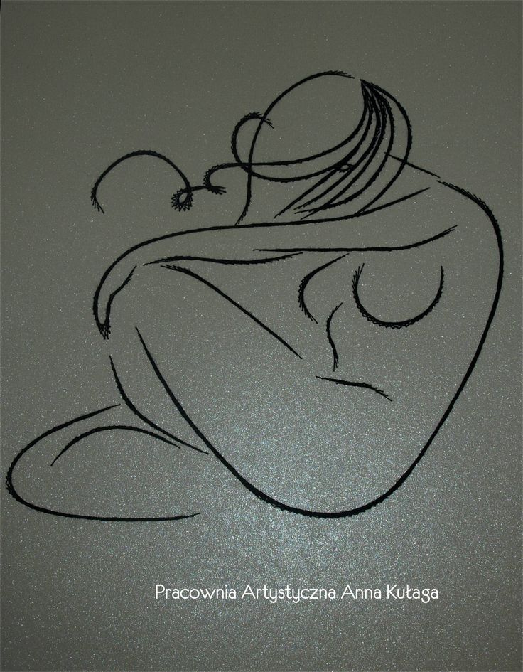 Stiching card nude women by Anna Kułaga