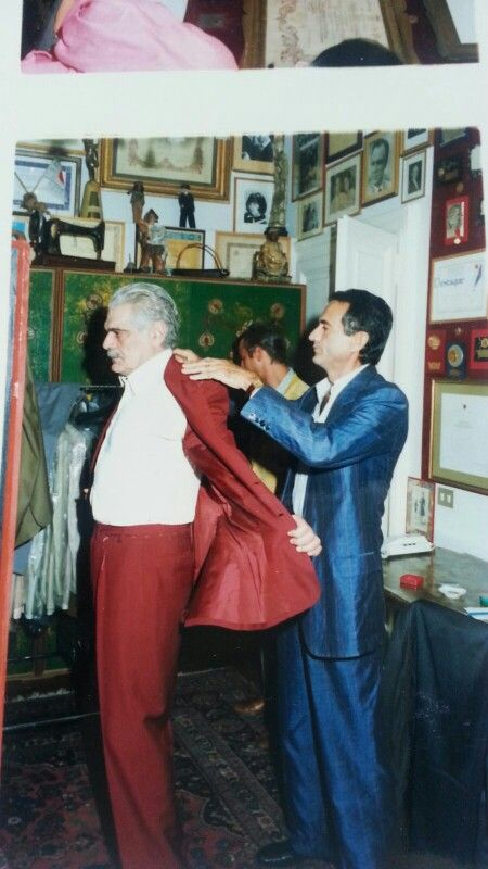 Tribute to the Great #OmarSharif always close and faithful to #SartoriaLitrico. Goodbye Mr. Sharif. #LucaLitrico #BespokeTailor
