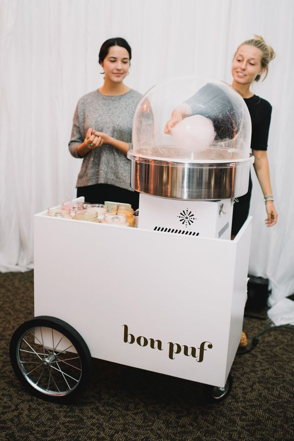 cotton candy at your wedding! - photo by Heidi Ryder Photography http://ruffledblog.com/dreamy-rose-gold-wedding
