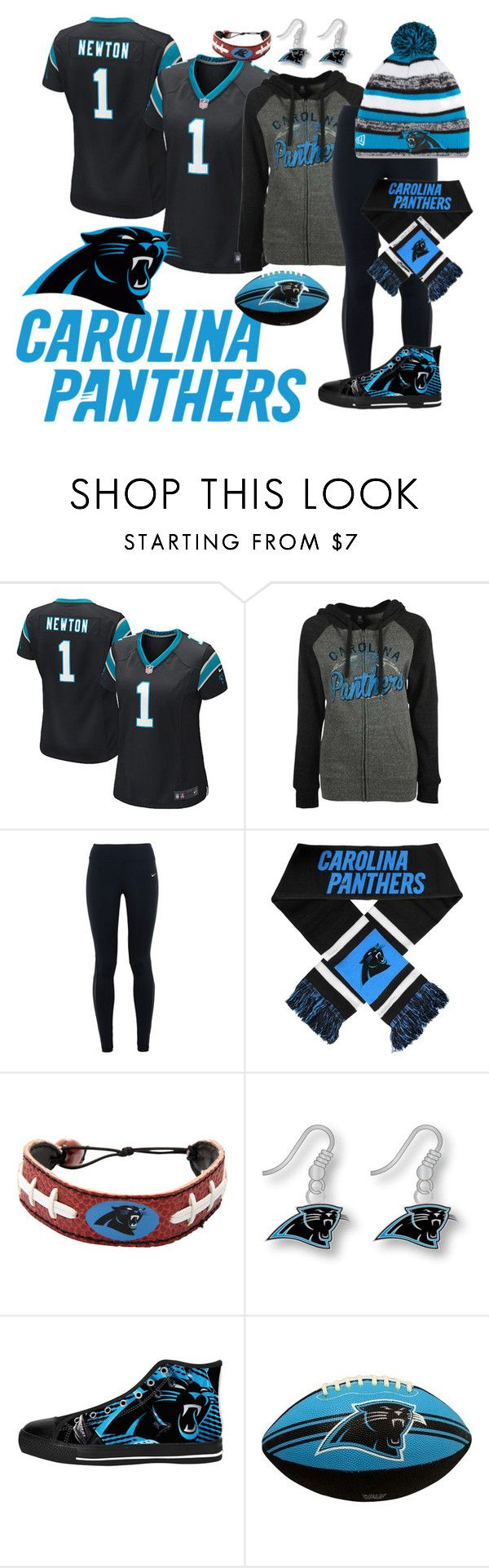"""""""Super Bowl 50"""" by brunnette24189 ❤ liked on Polyvore featuring NIKE, 5th & Ocean, women's clothing, women, female, woman, misses and juniors"""