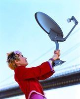 You can use a satellite dish as a TV antenna.