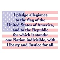 Pledge of Allegiance - the version I can feel good about stating aloud.