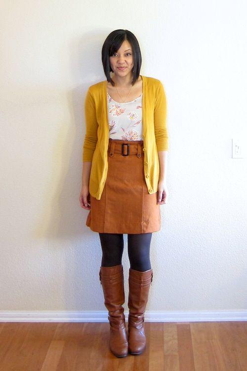 Putting Me Together: orange belted skirt