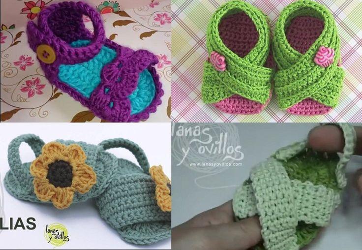 No sabrás cuál de estas sandalias de bebé a crochet hacer primero