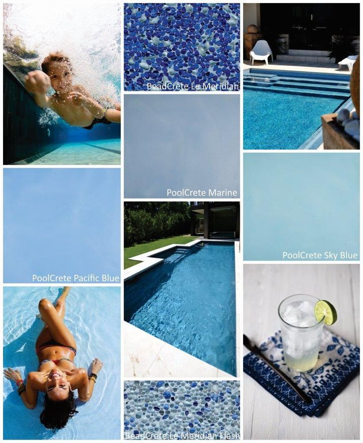 Keep your pool looking fresh and inviting using shades of blue from Cemcrete's PoolCrete or BeadCrete