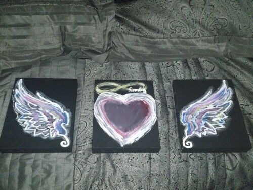 Box set canvas art artist D.Millar angelme creations.