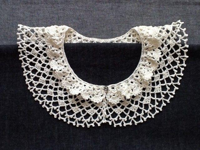 レース編み*つけ襟   iichi(いいち)  ハンドメイド・クラフト・手仕事品の販売・購入