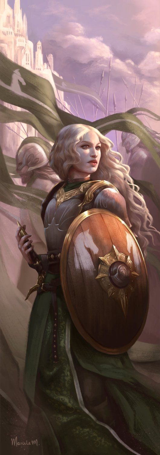 Looks like Gudrid only she's not a warrior (White Lady of Rohan by marcelamedeiros-arts)