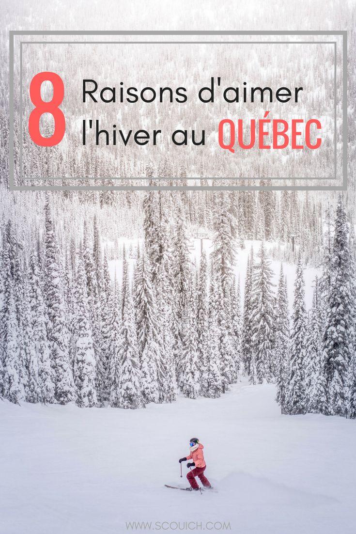 Si vous me lisez depuis quelque temps, vous savez déjà que j'aime l'hiver. Alors voici mes 8 raisons pourquoi l'hiver est la meilleure saison au Québec. #voyage #voyagevoyage #quebecoriginal #quebec #hiver #sports