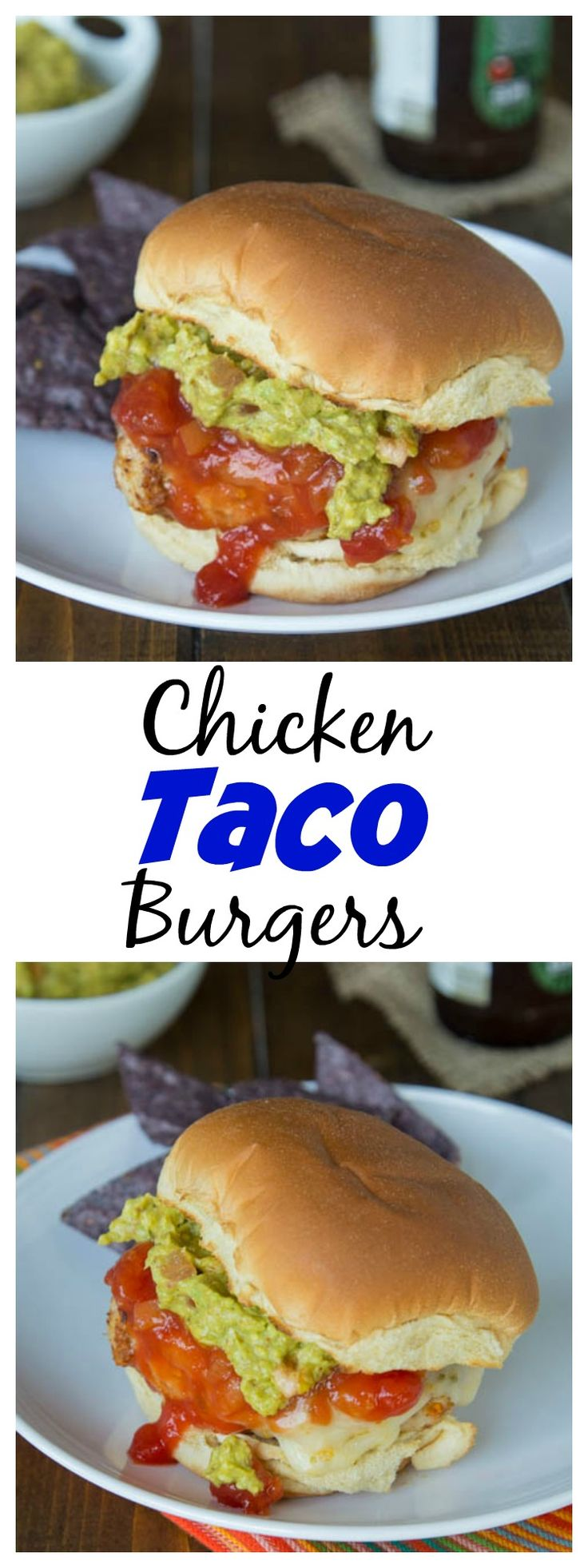 Combine two of your favorites; taco and burgers into one quick, easy, and healthy dinner!  Only 3 ingredients, and so easy to these chicken burgers!