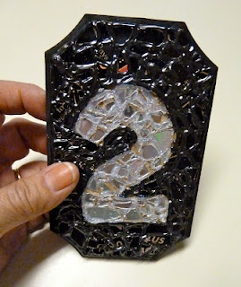 Make it easy crafts: Recycled CD Mosaic House/apartment number plaque
