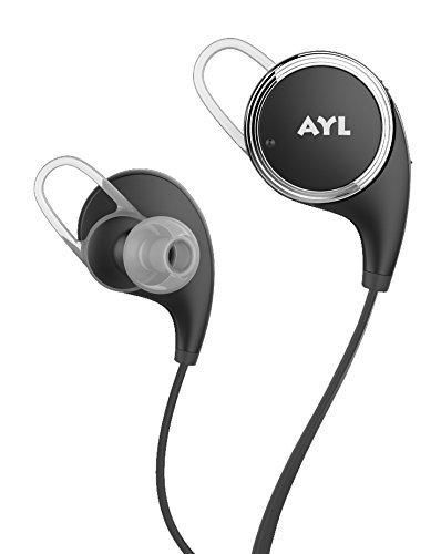 AYL 4009152 Wireless Bluetooth V4.1 Noise Cancelling Sport Stereo In-Ear Headset with APT-X/Mic for Smartphones