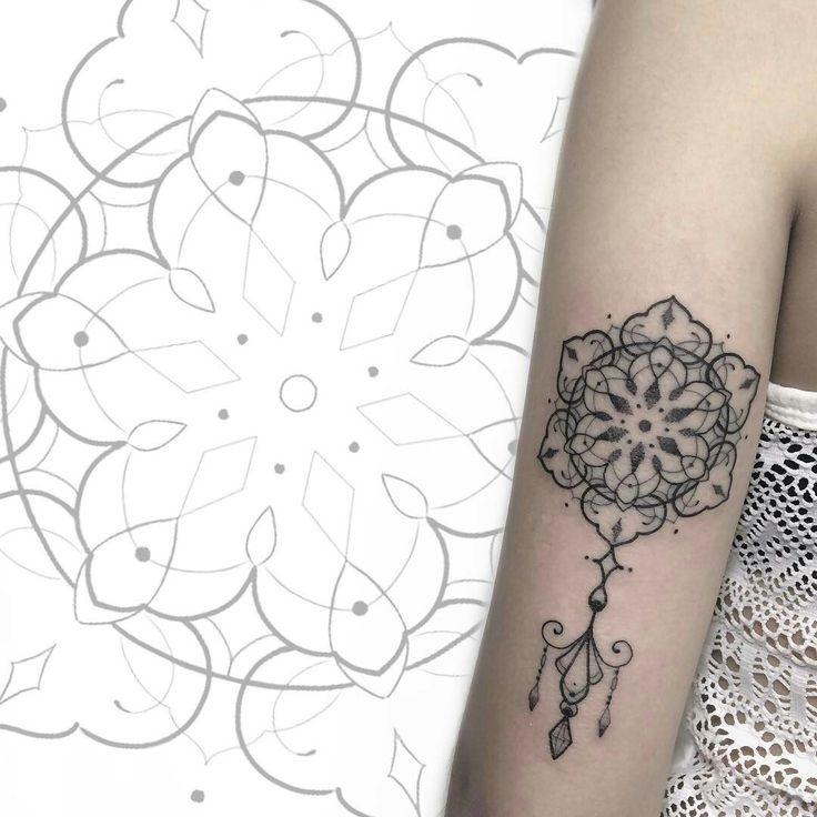 Tattoo done by: Allan Salazar #mandala #mandalatattoo