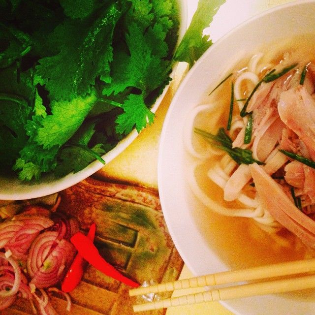 Pho.....fab fresh fantastic - and on my own table tonight #pho #phonominal #fresh #tasty