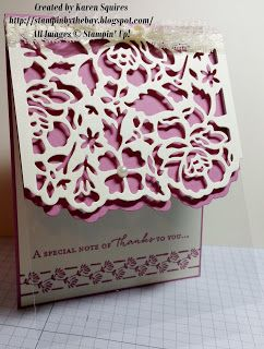Stampin' By The Bay: Detailed Floral Thinlits and In-Colors