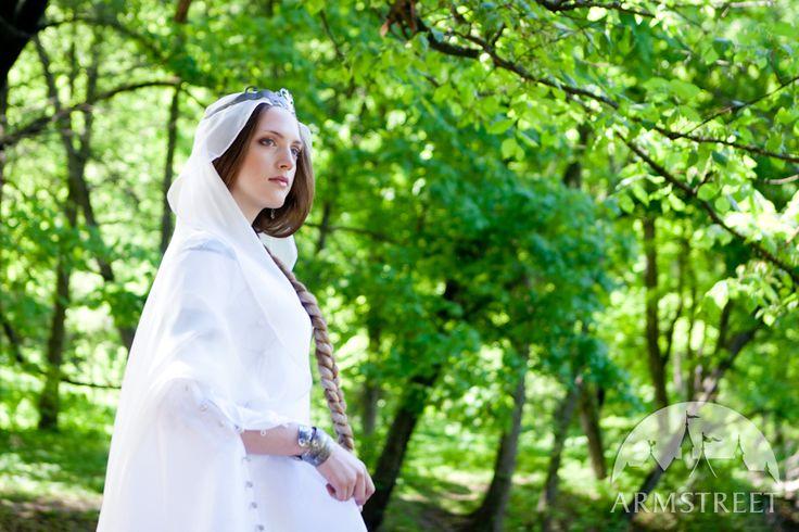 """Mittelalter Fantasie Hochzeitskleid """"Schwan"""""""