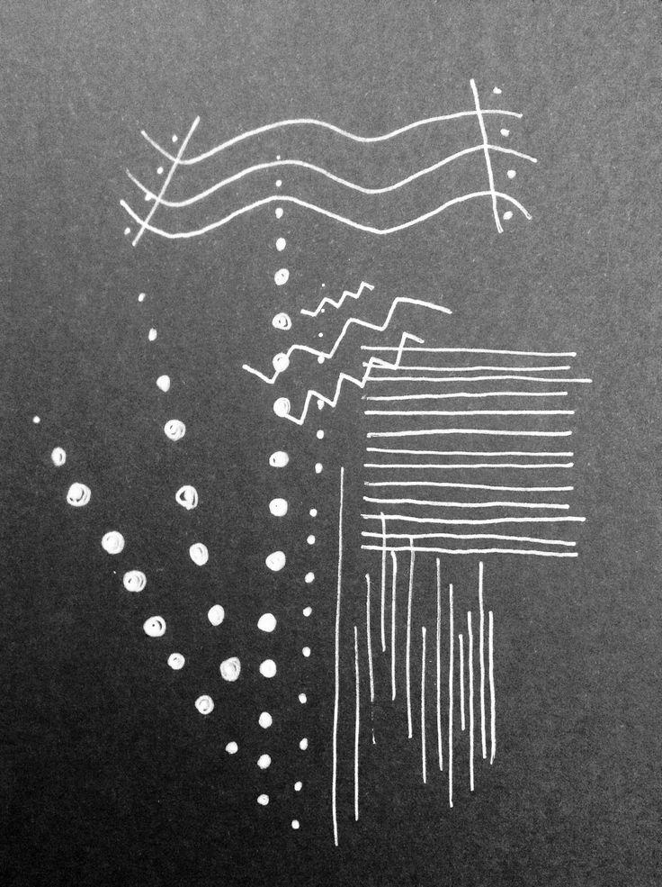 patterns:   black card | white pen