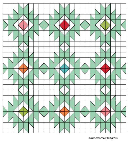 Wüste Star - gekachelt ist ein PDF-Steppdecke-Muster für eine fortgeschrittene Quilter entwickelt. Wüste-Star wurde von trendigen Aztec und