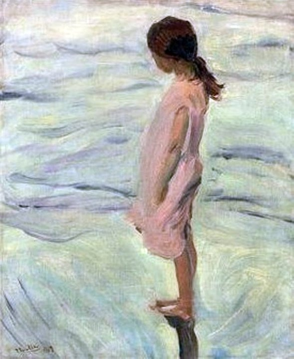 Después de puesto el sol. Joaquín Sorolla y Bastida (27 February 1863 – 10 August 1923) was a Valencian Spanish painter.