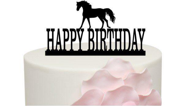 Horse Birthday Cake Topper