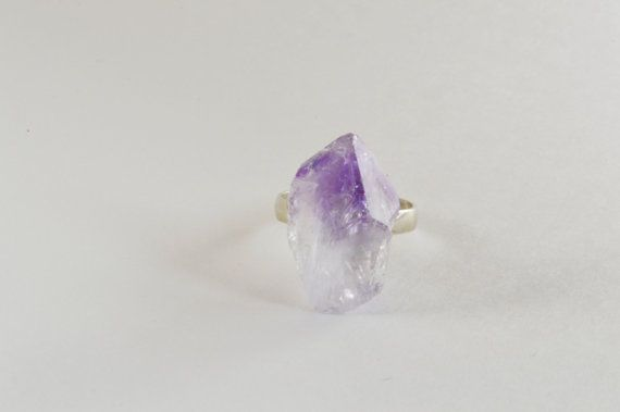 $20 raw amethyst ring for any occasion or style!