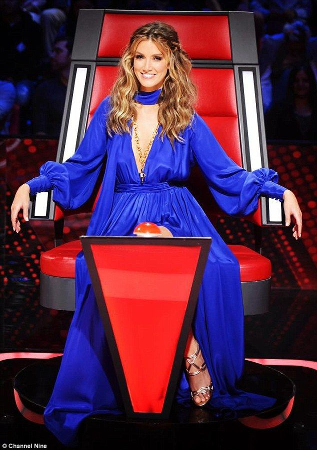Blues: Delta paired this designer gown with a necklace by fast-fashion jewellery brand Lovisa on another episode of the competition show