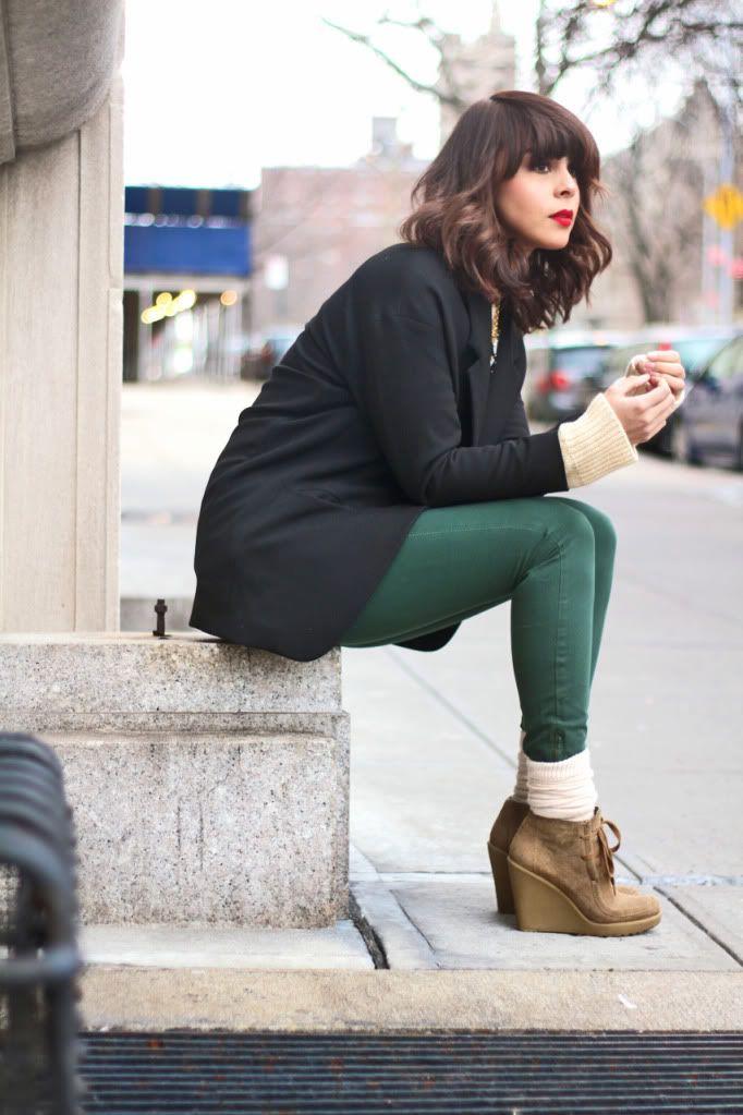 dark green pants