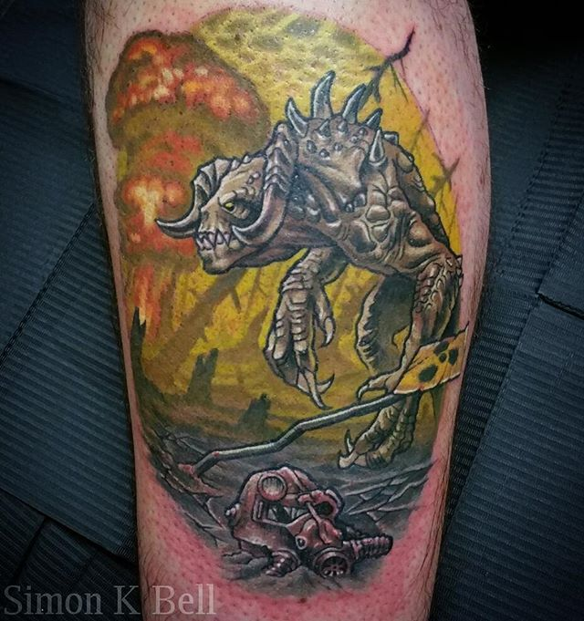 Glowing Sea tattoo. War never changes! 《Simonkbell@gmail.com》 ~ @videogametatts…