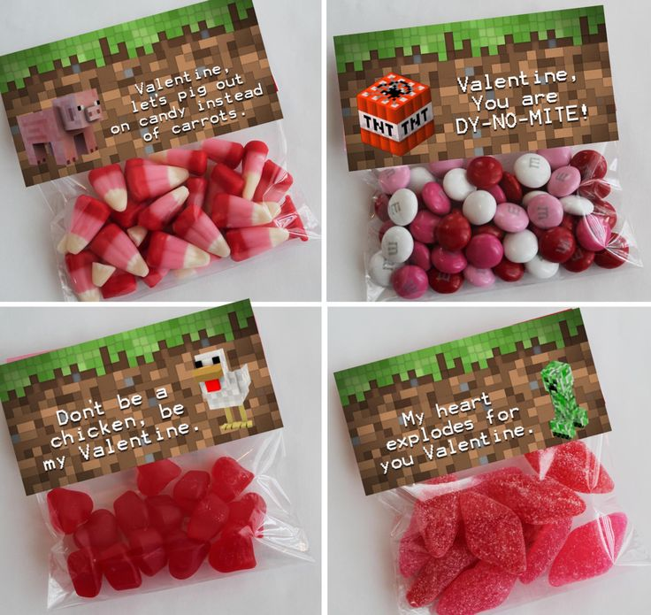 Minecraft Valentine's Day Printable, Minecraft Valentine Treat Topper,Minecraft Valentine's Day Favors, Minecraft Video Game Valentine, by Giggle Bean