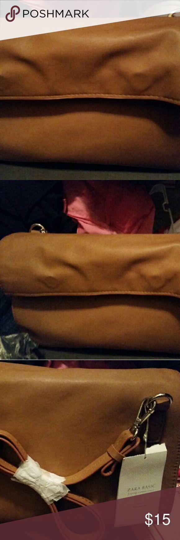 Zara NWT brown messenger bag w strap Zara bag, brand new Zara Bags Shoulder Bags