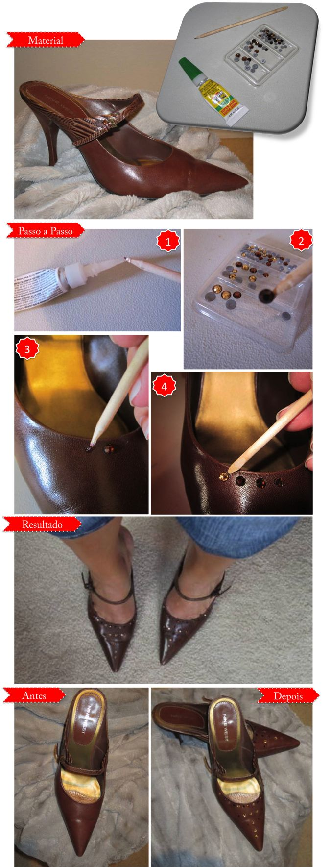 DIY - Faça você mesma: Transformação de Sapato