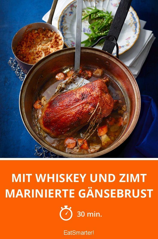 Mit Whiskey und Zimt marinierte Gänsebrust - smarter - Zeit: 30 Min. | eatsmarter.de