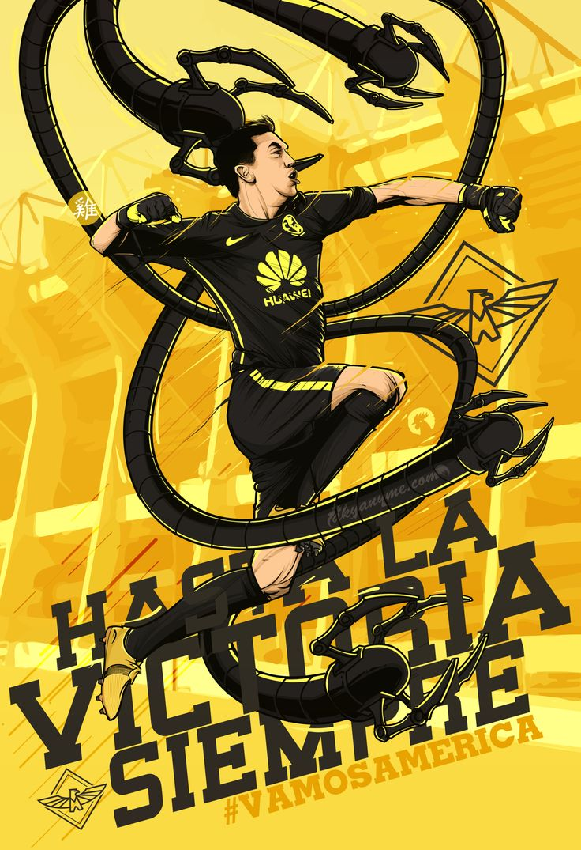 Agustín Marchesin ilustracion revista mexico poster club america