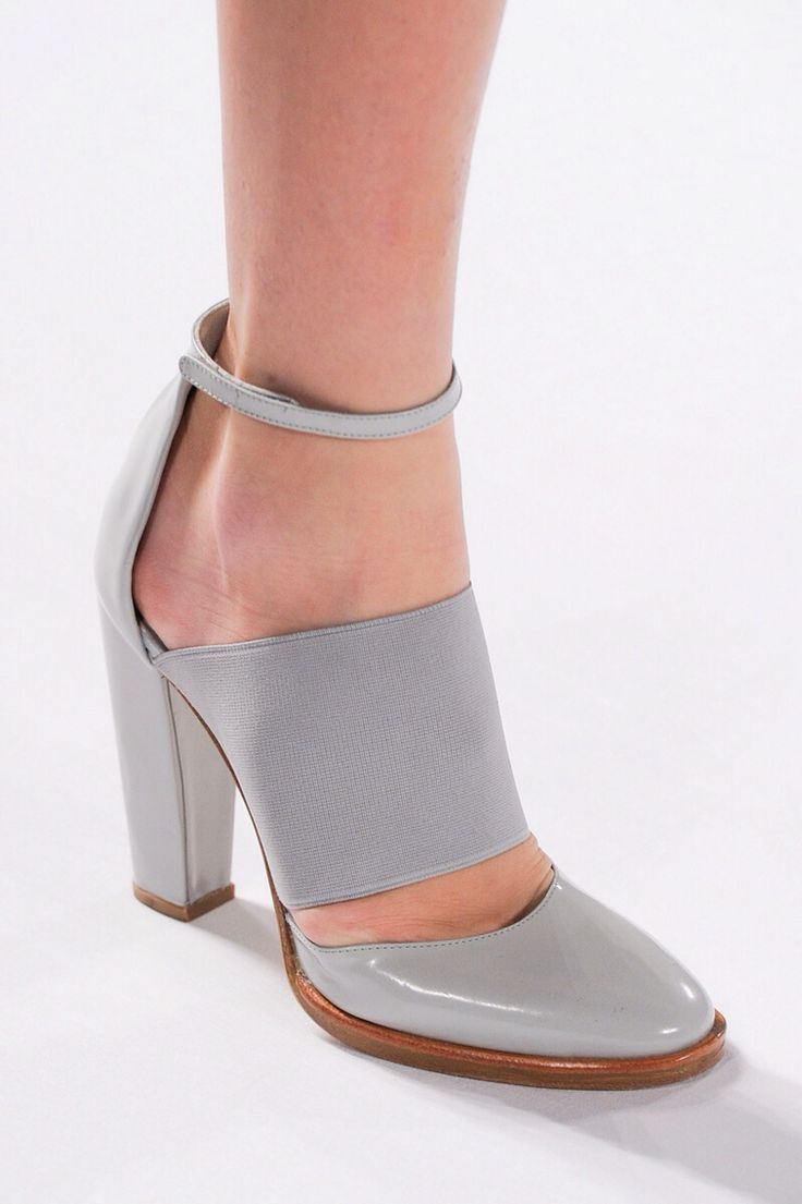 Grey heel with an ankle strap Lacoste.I love how these are a bit more mature