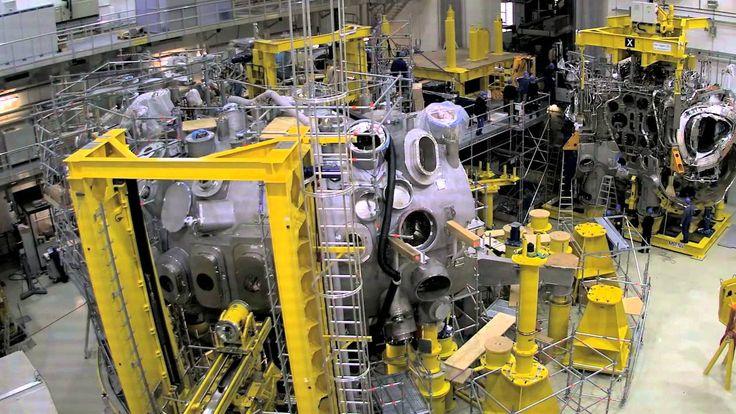 Im Zeitraffer: Zusammenbau von Wendelstein 7-X  Ensamblaje de Wendelstein 7-X, un reactor de fusion nuclear en el instituto Max